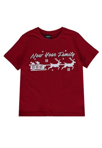LC Waikiki red Boy's Printed Cotton T-Shirt 3B777KAAD23F76GS_1