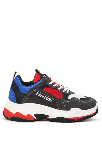 London Rag 多色 女式大牌撞色复古风运动鞋 CBE73SH9129C2CGS_1