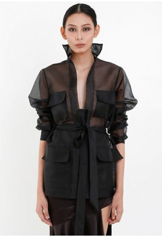 [PRE-ORDER] Sheer Trench Coat with Sash Belt