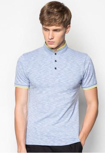 條紋邊飾高領Pesprit sgOLO 衫, 服飾, Polo衫