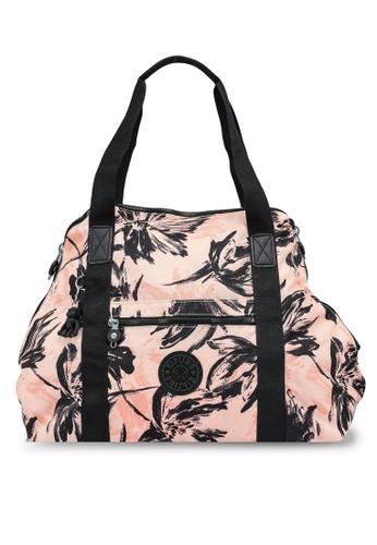 Kipling black and orange ART M Coral Flower Tote Bag CB84BAC80F6104GS_1