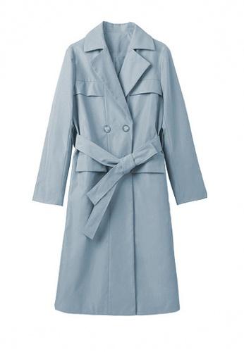 Twenty Eight Shoes blue VANSA Solid Color Double Button Mid-Length Coat  VCW-C88382 49605AA70DA30FGS_1