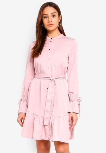 Forever New pink Verona Shirt Dress 74BCDAA077C003GS_1