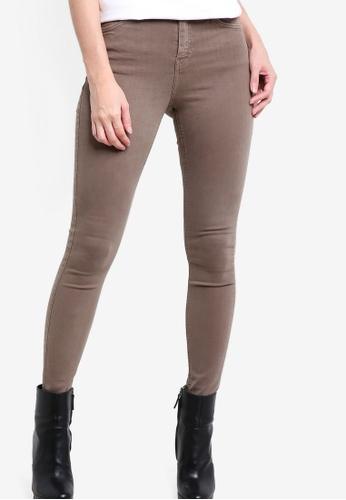 TOPSHOP brown Moto Khaki Jamie Jeans TO412AA29EVYMY_1