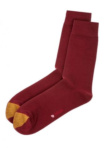 Gold Toe red Crew Length Men's Modal Dress Socks 800C9AA7988EFFGS_1