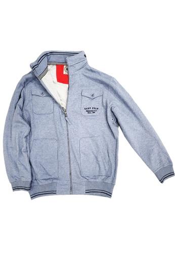 East Pole blue Men's Knitted Preppy-Style Varsity Jacket 29960AA65233BEGS_1