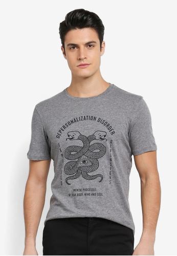 Sisley 灰色 智慧之眼與蛇圖騰T恤 F5784AA78B353CGS_1