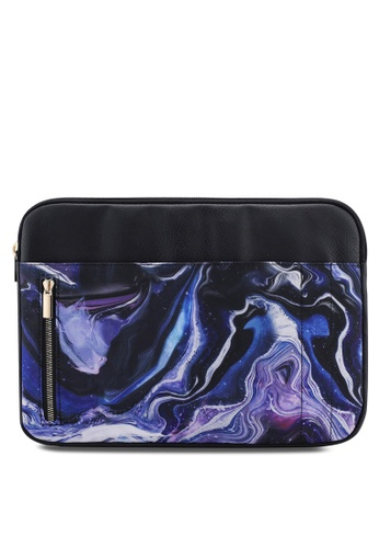 Typo blue and multi Take Charge 13 Inch Laptop Cover C36ACAC34C4168GS_1