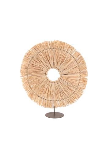 Propstation Round Natural Raffia Straw Grass Table Decor - 37cm 52748HL14FC689GS_1