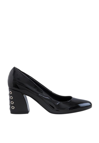 eq:iq black eqCATHERINE Glossy Studded Pumps EQ351SH0FVAVSG_1