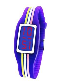 Digital LED Stripe Unisex Indigo Silicone Strap Watch