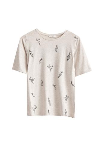 LC Waikiki beige Printed Viscose T-shirt 4DFB0AAF1E55A5GS_1