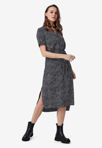 Vero Moda black Printed Shirt Dress 3FBC0AA10AFC7AGS_1