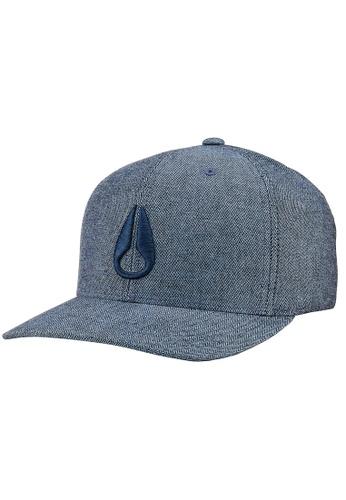 Nixon blue Deep Down Athletic Textured Hat - Navy (C22702171-22) NI855AC0H8Y2SG_1
