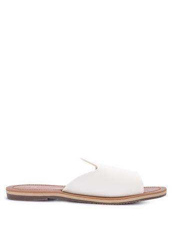 Penshoppe white Plain Synthetic Leather Sandals B0FDESHAE82605GS_1