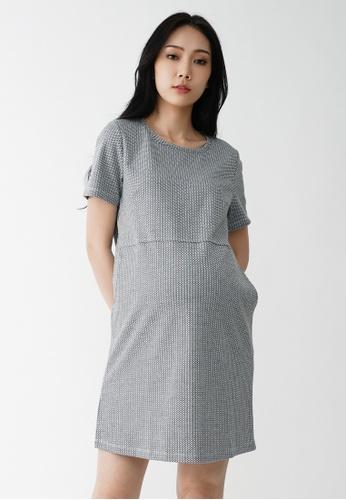 9months Maternity grey Grey A-Line Maternity Shift Dress 806D3AADDB5468GS_1