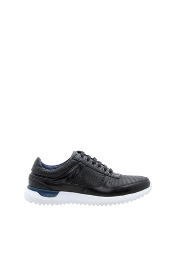 SEMBONIA black SEMBONIA Men Calf Leather Sneaker (Black) 8082FSH6736E91GS_1