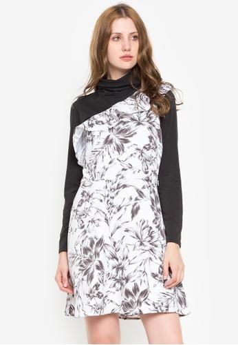 Susto The Label multi Shona Floral One Shoulder Dress 92014AAF05F7E4GS_1