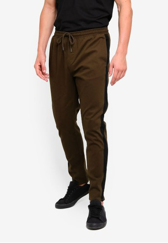 Brave Soul green Side Stripe Joggers C1D1AAA1D9546AGS_1