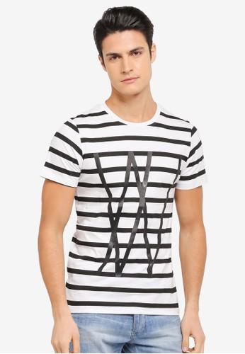 harga Typographic Striped Tee Zalora.co.id