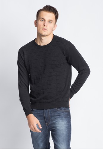 VALINO black VALINO STRIPED SWEATSHIRT 4FB9DAAEEAB177GS_1
