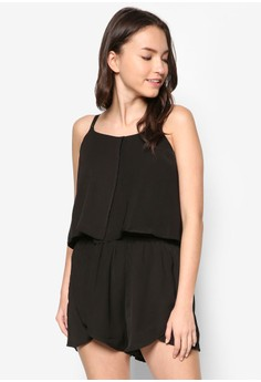 Layering Detail Sleeveless Romper