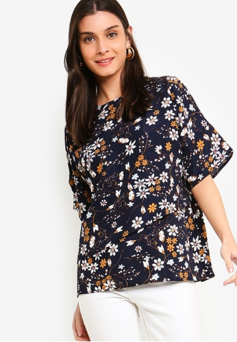 ZALORA multi and navy Overlap Top 7C1D7AAA9B62A0GS_1