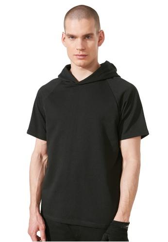 Trendyol black Short Sleeve Sweatshirt 4ADCEAA717BDE9GS_1