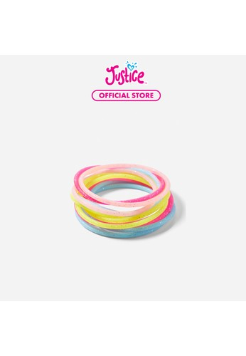 Justice multi Justice Girls Glitter Silicone Bracelet -12 Pack 549BEKCAB15E52GS_1