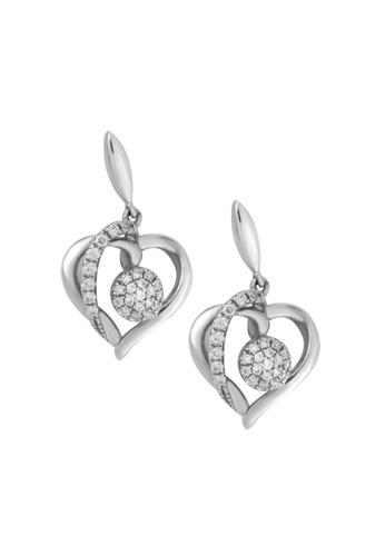 TOMEI white TOMEI Agleamed with Luminous Sparks of Love Earrings Diamond White Gold 375 (E1873) 524C8AC49068E3GS_1