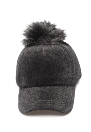 Limkokwing Fashion Club black Fabulous PomPom Cap LI086AC30GNDMY_1