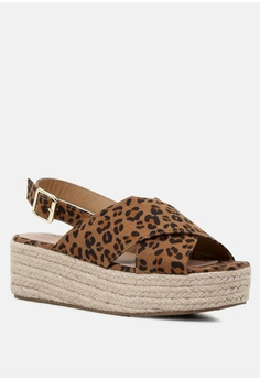 363240aa6ac0 London Rag Cross Strap Wedge Slingback Sandal S  58.99. Available in  several sizes