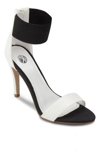 彈性踝帶拉鍊高跟zalora時尚購物網的koumi koumi涼鞋, 女鞋, 鞋
