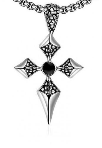 """Sopistikada silver Luke Cross 316L Stainless Steel Necklace 24"""" 20B86AC8E44726GS_1"""