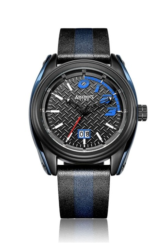 Assassin's Time black and blue Assassin's Time RACE Blue Black Leather DEDC1ACA1E43F1GS_1