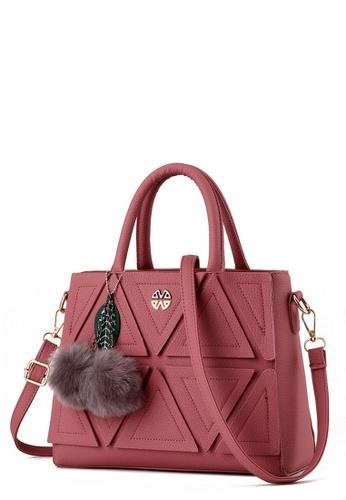 TCWK pink TCWK Korea Style Pink Ladies Handbag TC258AC0RQIQMY_1