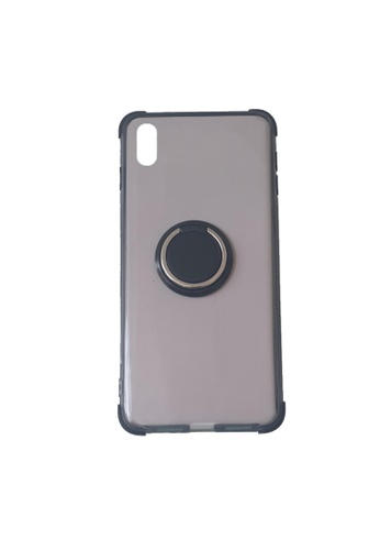 MobileHub black iPhone XS Silicone Clear Case with X-Ring 8B0FEAC5519DE6GS_1