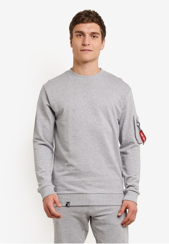 Indicode Jeans grey Fresno Pocketed Sleeve Sweatshirt IN815AA0ROLWMY_1