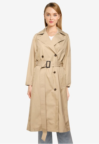 niko and ... brown Classic Long Trench Coat D20C3AA1E5C04AGS_1