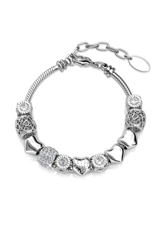 19006057a1fb7 Her Jewellery silver Radiant Charm Bracelet (White Gold) - Embellished with  Crystals from Swarovski