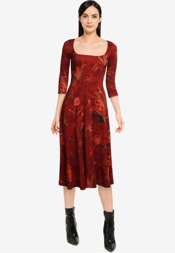 Desigual red Flowers Dress 034F6AAFEC9D69GS_1