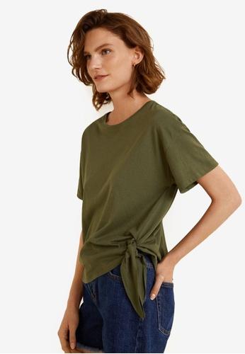 Mango green Bow Cotton T-Shirt 799F8AA84B5DB9GS_1