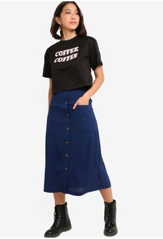 0f3a1bdeb9ec24 37% OFF Something Borrowed Button Down Maxi Skirt S  34.90 NOW S  21.90  Sizes XS S M L XL