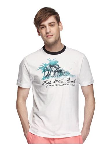 Chaps white CHAPS Jersey Graphic T-Shirt CH325AA0RDFYMY_1