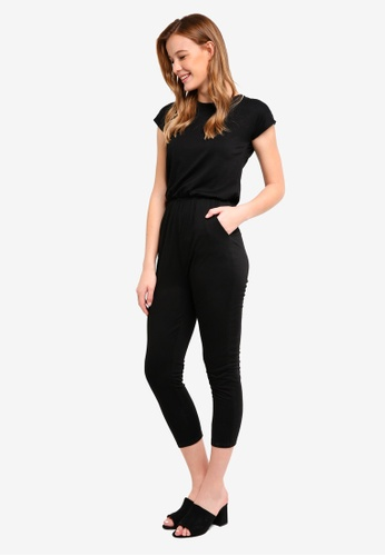 ZALORA BASICS black Basic Blouson Jumpsuit 94EA0AA39647A2GS_1