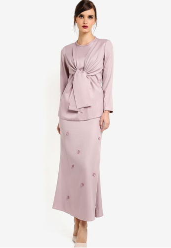 Rico Rinaldi for Zalora brown Dara Modern Kurung RI533AA75DWEMY_1