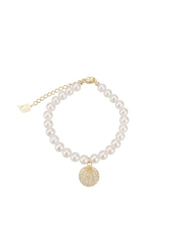 Pearly Lustre gold Pearly Lustre Elegant Freshwater Pearl Bracelet WB00044 E403EAC636CD9BGS_1