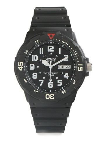 Casio black Casio Jam Tangan Pria - Black - Resin - MRW-200H-1BVDF 5F18EACDE29168GS_1