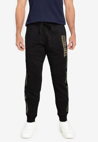 Hollister black Sport Logo Tape Jogger Pants 5460FAAE61162BGS_1