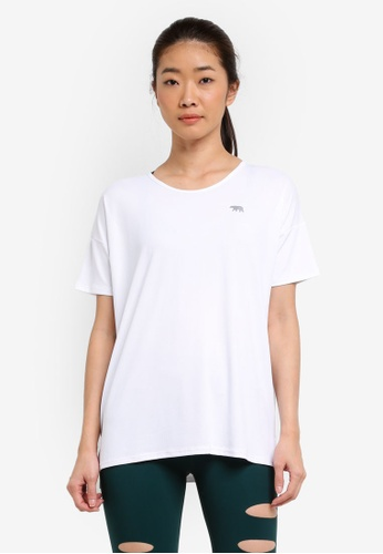 Running Bare white Crew Neck Workout Tee 82599AA491A3B9GS_1